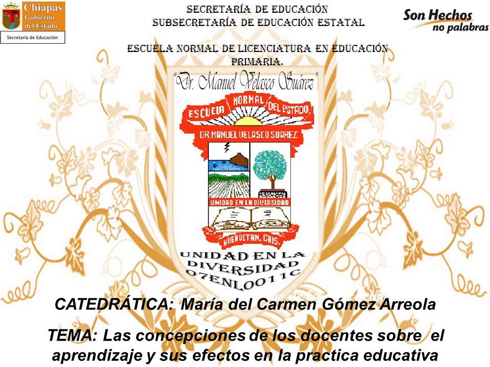 SECRETARÍA DE EDUCACIÓN SUBSECRETARÍA DE EDUCACIÓN ESTATAL ESCUELA NORMAL DE LICENCIATURA EN EDUCACIÓN PRIMARIA.