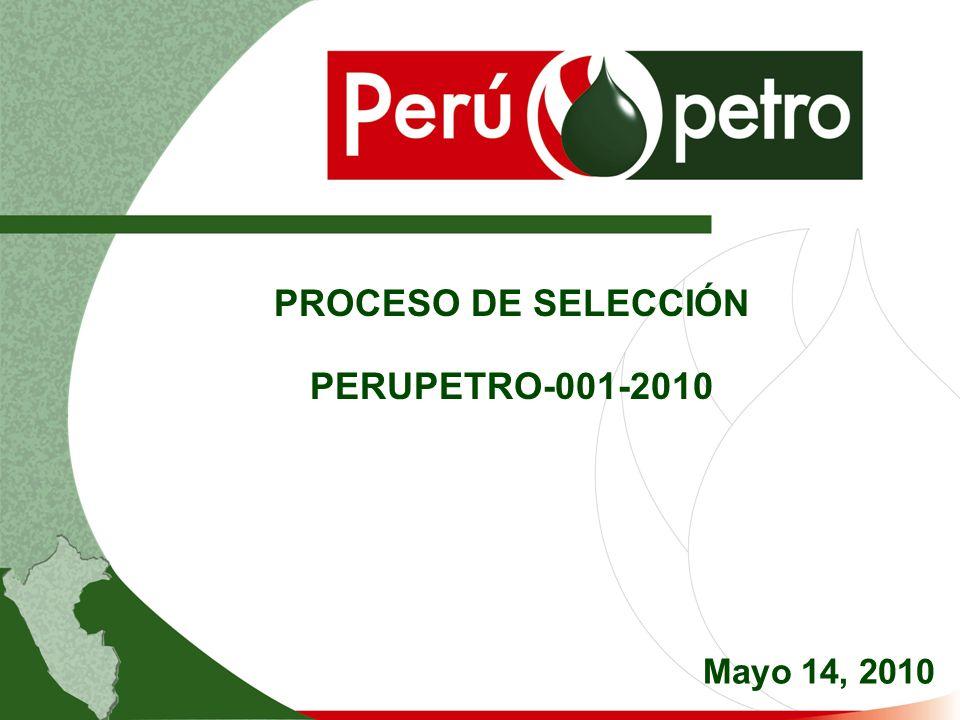 PROCESO DE SELECCIÓN PERUPETRO-001-2010 Mayo 14, 2010