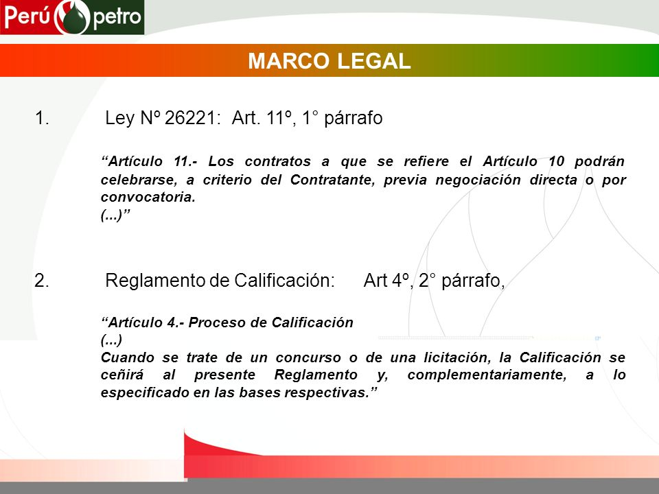 MARCO LEGAL 1.Ley Nº 26221: Art.
