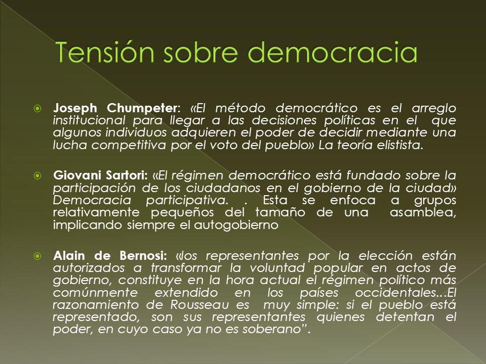1) Estado peruano: Democracia puramente representativa a partir de la delegación de poder y el «interés general del Estado» a partir de la legitimidad electoral.