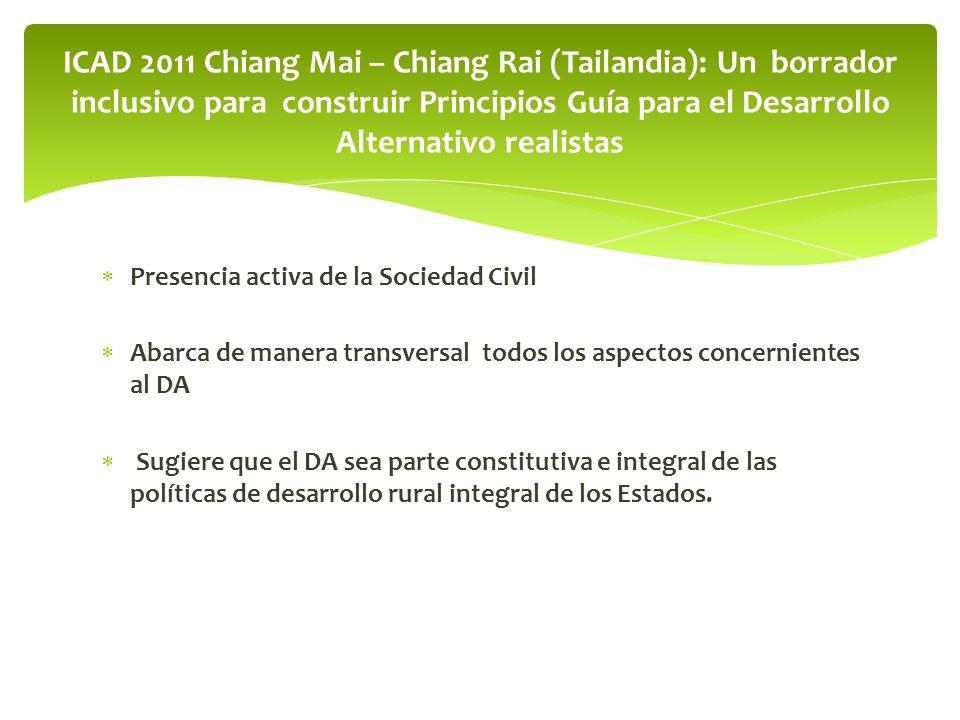 Se omite a la Sociedad Civil en el proceso post- ICAD Chiang Mai – Chian Rai, 2011.
