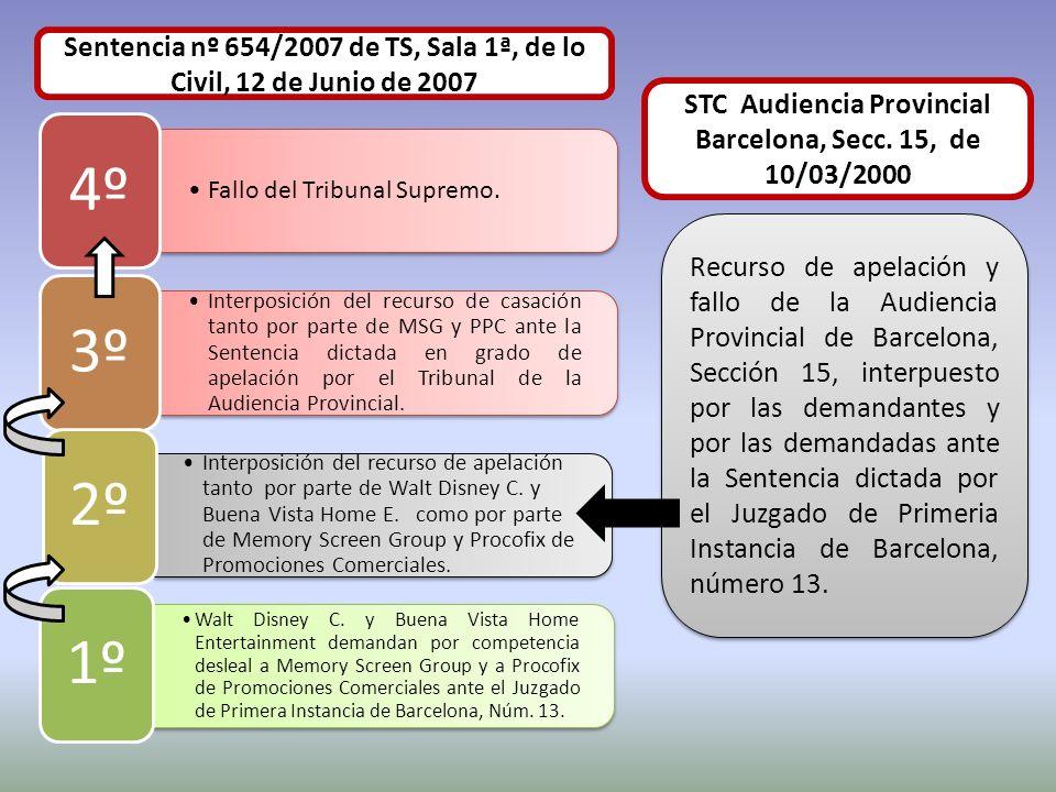 Fallo del Tribunal Supremo. 4º Interposición del recurso de casación tanto por parte de MSG y PPC ante la Sentencia dictada en grado de apelación por