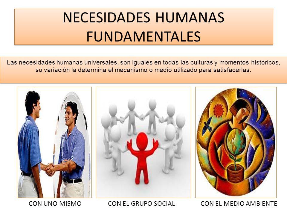 NECESIDADES HUMANAS FUNDAMENTALES Las necesidades humanas universales, son iguales en todas las culturas y momentos históricos, su variación la determ