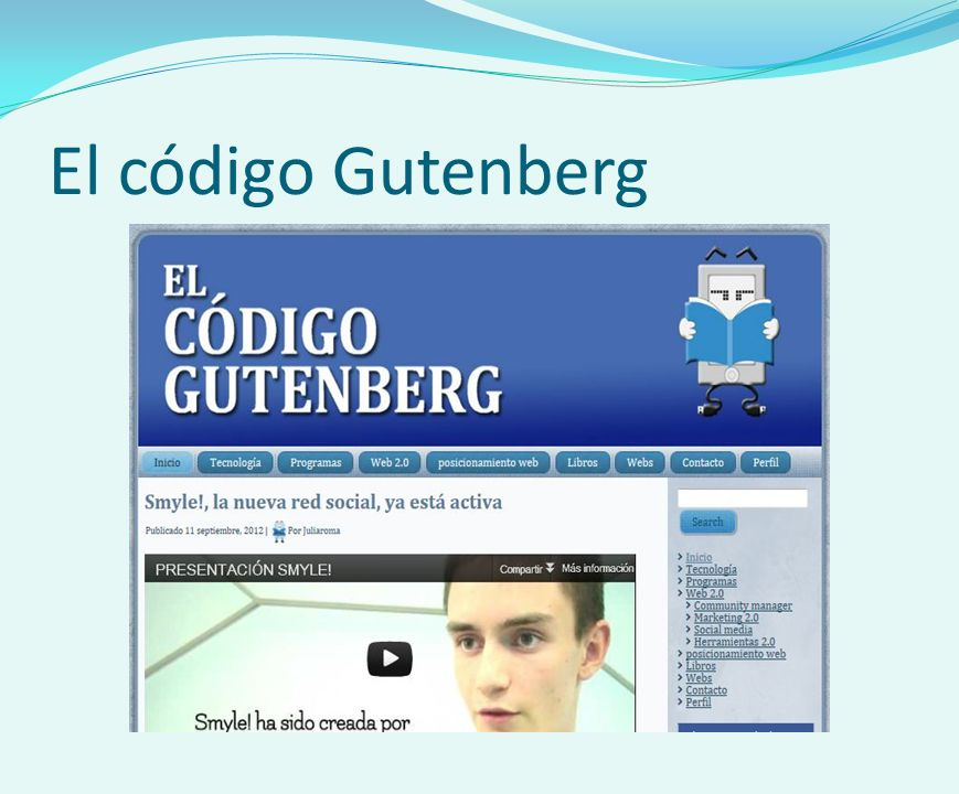 El código Gutenberg