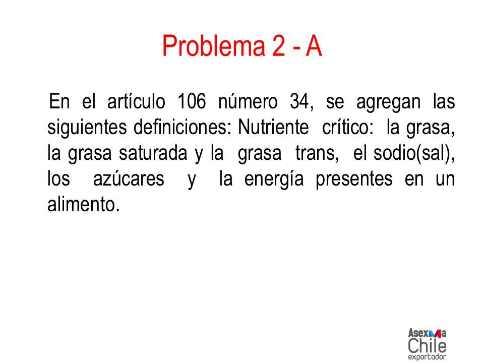 En el artículo 106 número 34, se agregan las siguientes definiciones: Nutriente crítico: la grasa, la grasa saturada y la grasa trans, el sodio(sal),