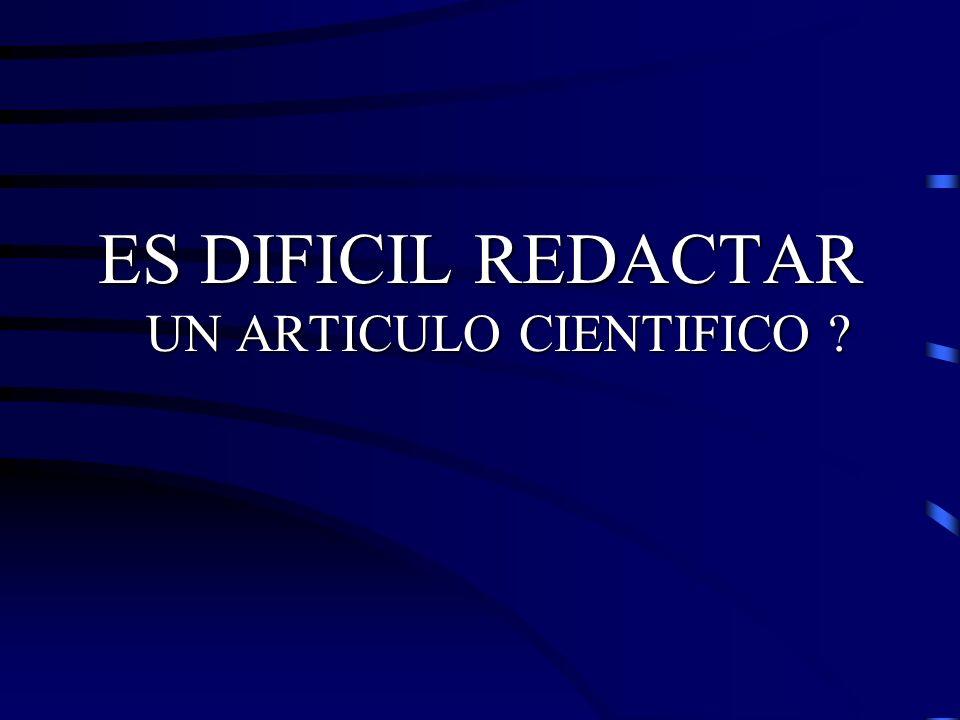 Escritura y Publicación de Artículos Biomédicos Título: sintaxis Ejemplos: Caracterización de las bacterias que producen mastitis mediante cromatografía.