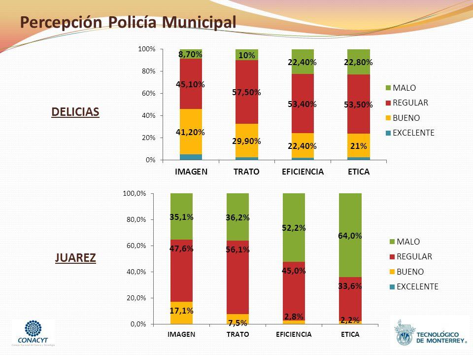 Percepción Policía Municipal DELICIAS JUAREZ