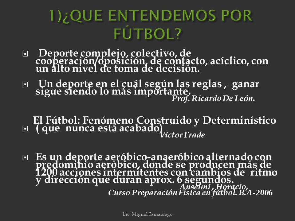 1)¿ Cómo definimos fútbol.2) ¿ Cuántos momentos tiene el fútbol.