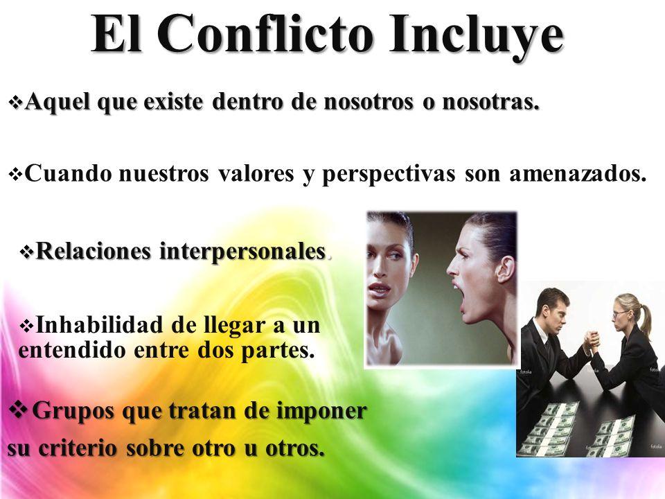 Verdad sobre el Conflicto Inevitable.Inevitable. Se desarrolla.