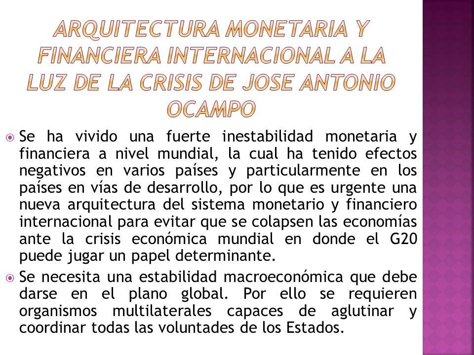 Se ha vivido una fuerte inestabilidad monetaria y financiera a nivel mundial, la cual ha tenido efectos negativos en varios países y particularmente e