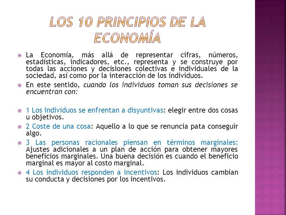 La Economía, más allá de representar cifras, números, estadísticas, indicadores, etc., representa y se construye por todas las acciones y decisiones c