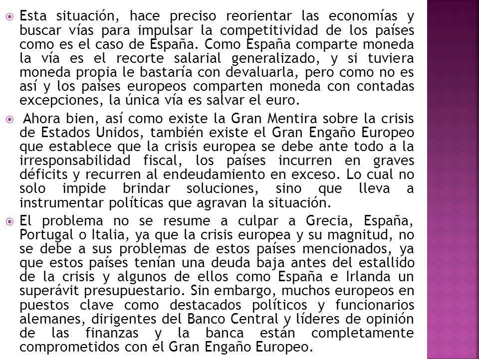 Esta situación, hace preciso reorientar las economías y buscar vías para impulsar la competitividad de los países como es el caso de España. Como Espa