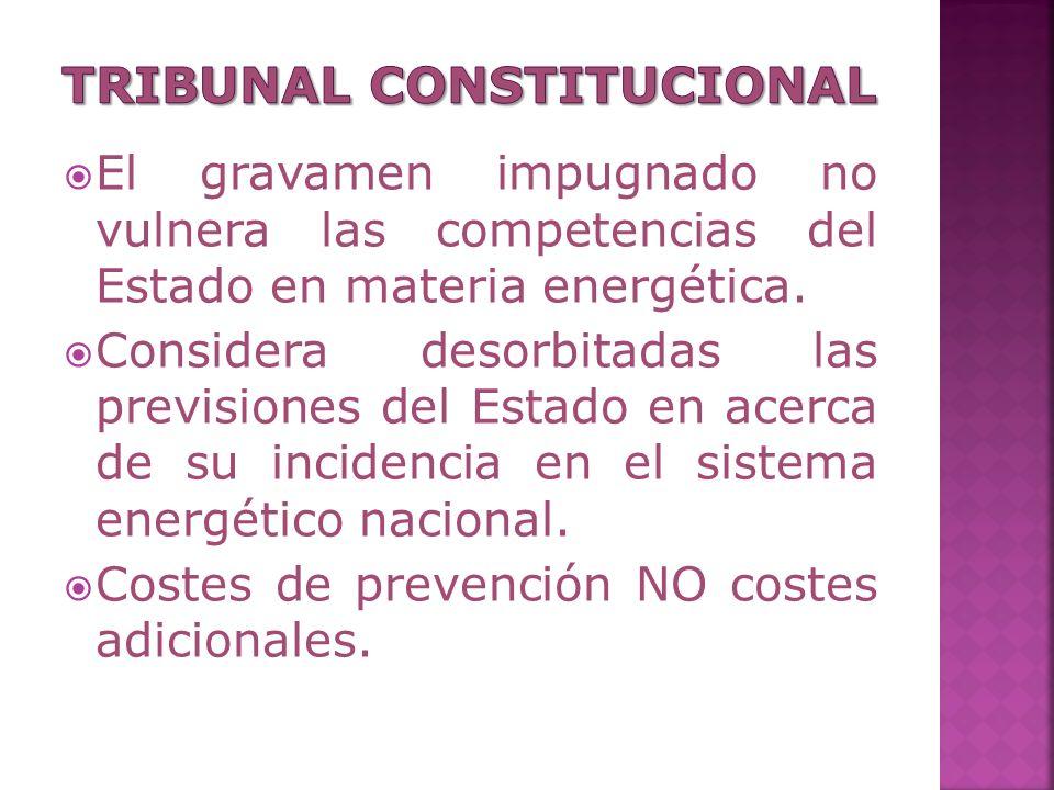 El gravamen impugnado no vulnera las competencias del Estado en materia energética.