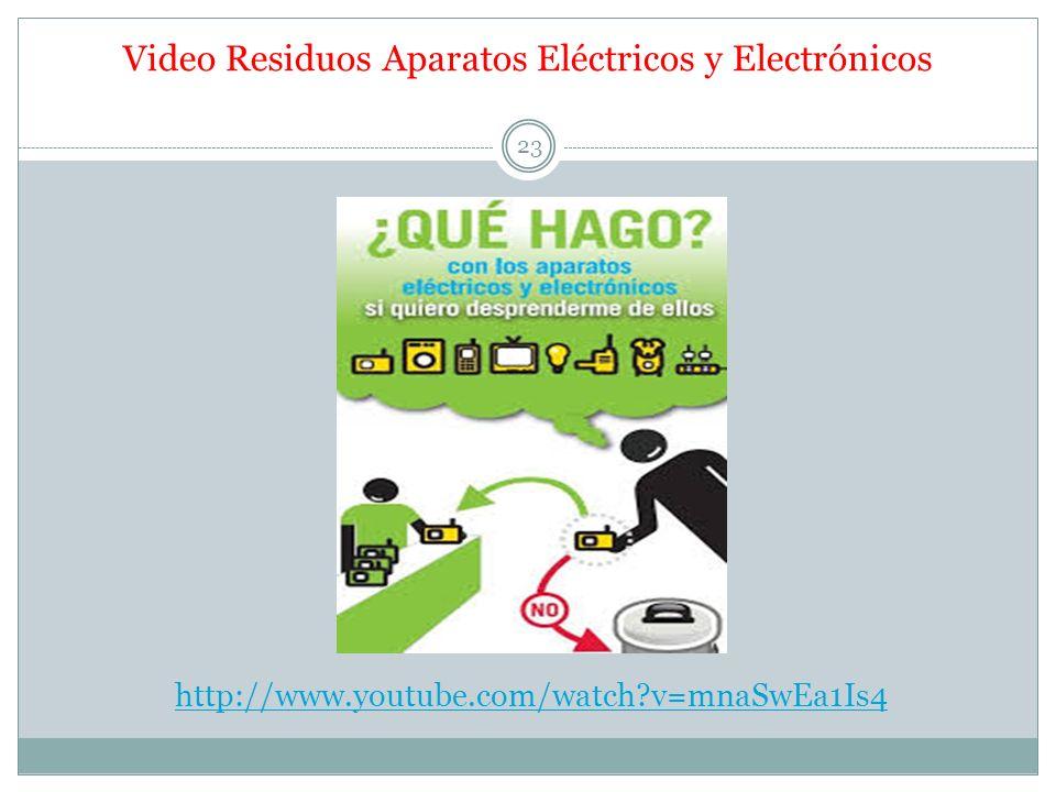 http://www.youtube.com/watch?v=mnaSwEa1Is4 Video Residuos Aparatos Eléctricos y Electrónicos 23