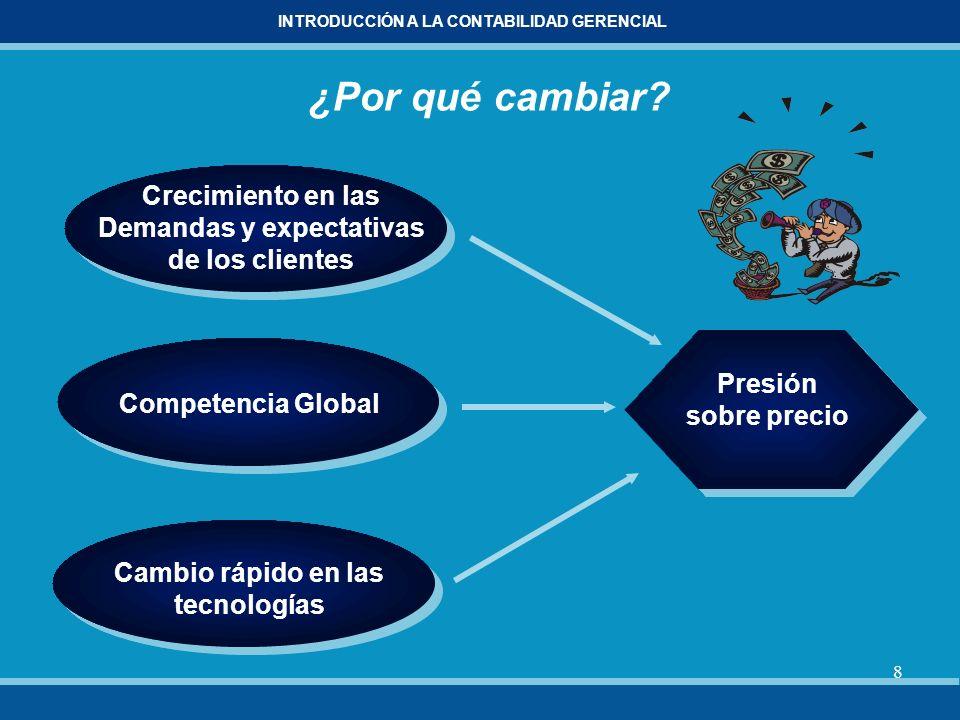 9 INTRODUCCIÓN A LA CONTABILIDAD GERENCIAL ¿Por qué cambiar.