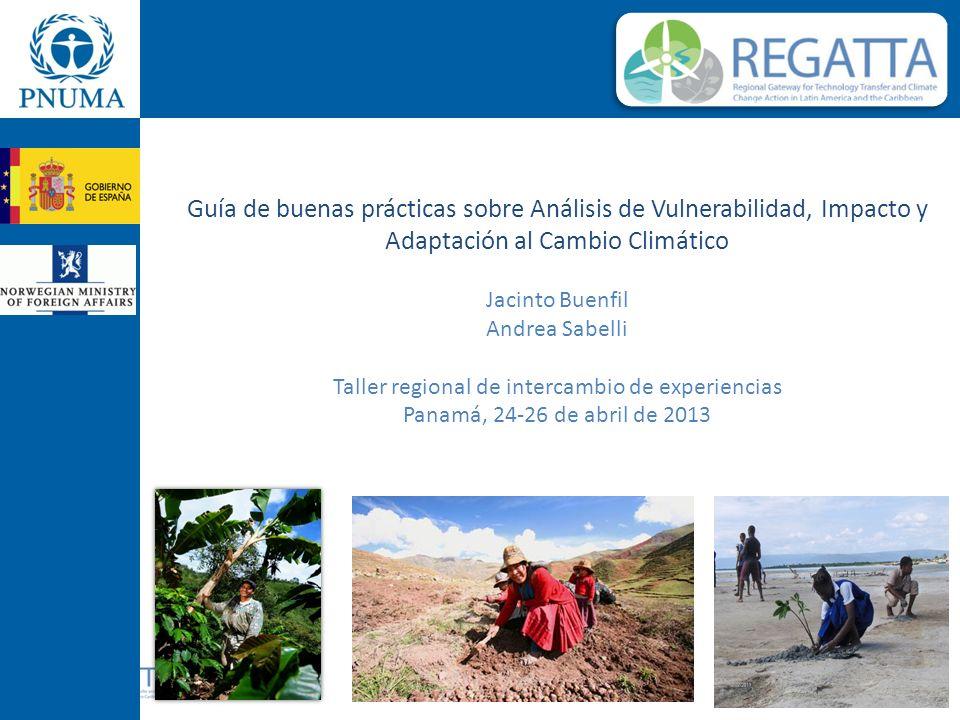 Guía de buenas prácticas sobre Análisis de Vulnerabilidad, Impacto y Adaptación al Cambio Climático Jacinto Buenfil Andrea Sabelli Taller regional de