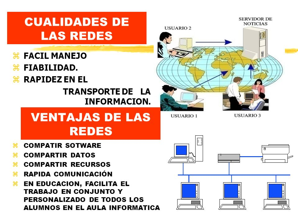 CUALIDADES DE LAS REDES z FACIL MANEJO z FIABILIDAD.