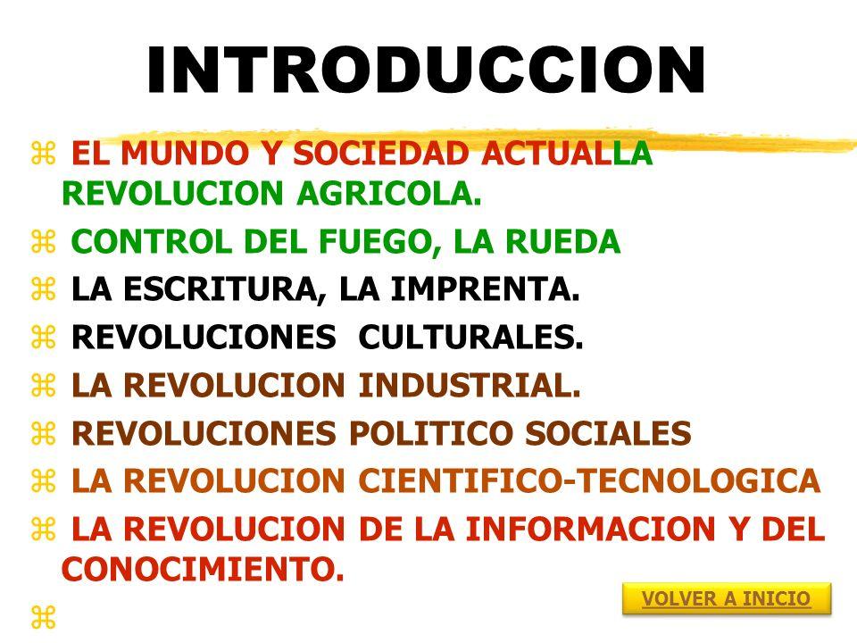 INTRODUCCION z EL MUNDO Y SOCIEDAD ACTUALLA REVOLUCION AGRICOLA.