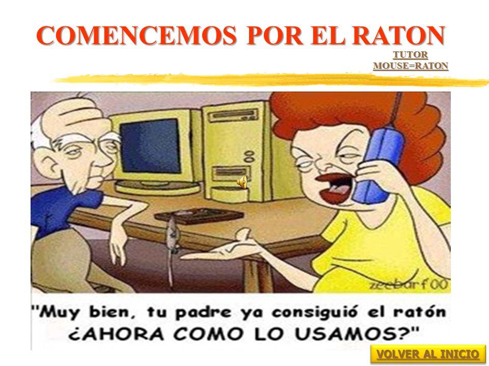 COMENCEMOS POR EL RATON TUTOR MOUSE=RATON VOLVER AL INICIO VOLVER AL INICIO VOLVER AL INICIO VOLVER AL INICIO