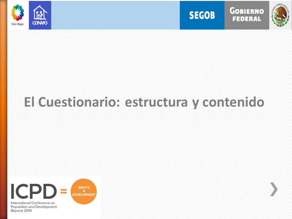 El Cuestionario: estructura y contenido