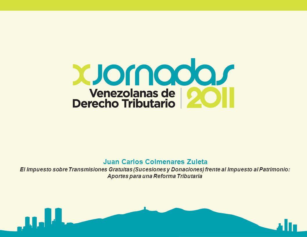 www.avdt.org.ve El Impuesto sobre Transmisiones Gratuitas (Sucesiones y Donaciones) frente al frente al Impuesto al Patrimonio: Aportes para una reforma tributaria.