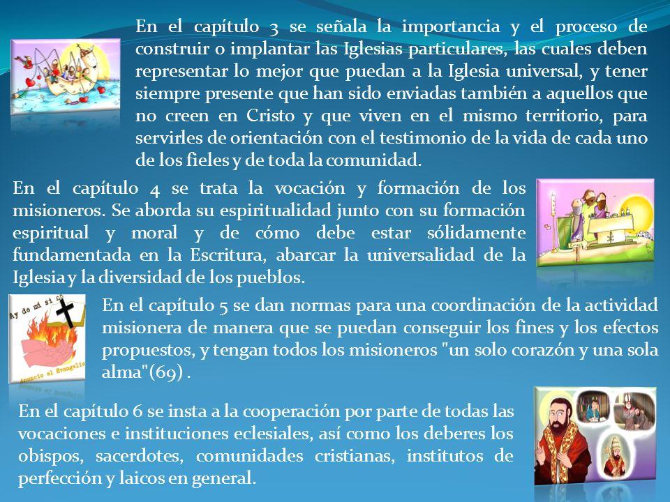 En el capítulo 6 se insta a la cooperación por parte de todas las vocaciones e instituciones eclesiales, así como los deberes los obispos, sacerdotes,