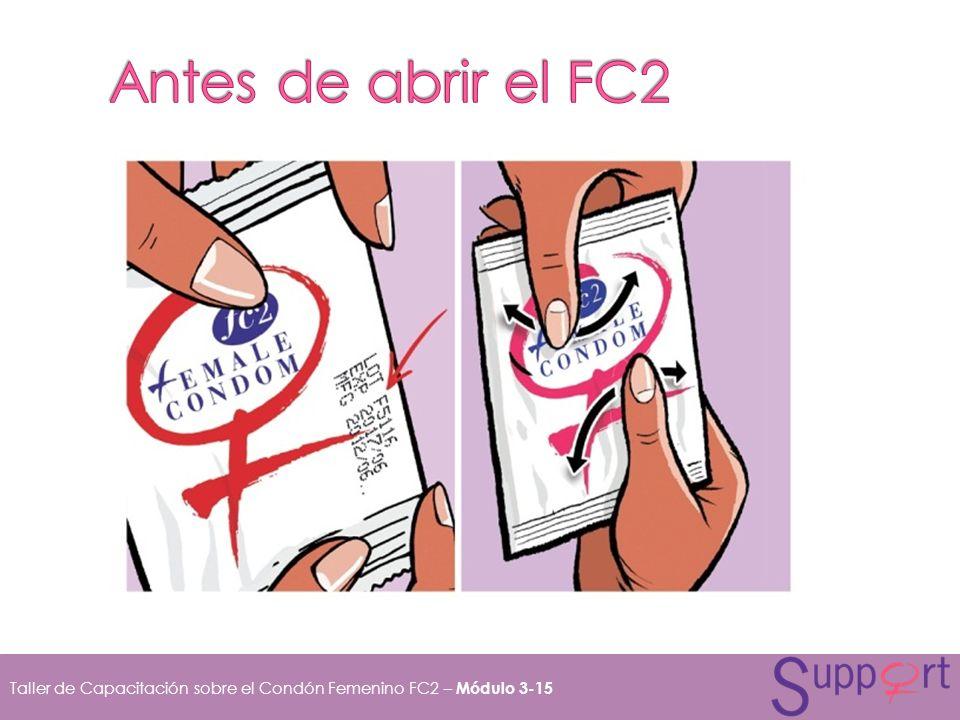 Taller de Capacitación sobre el Condón Femenino FC2 – Módulo 3-15