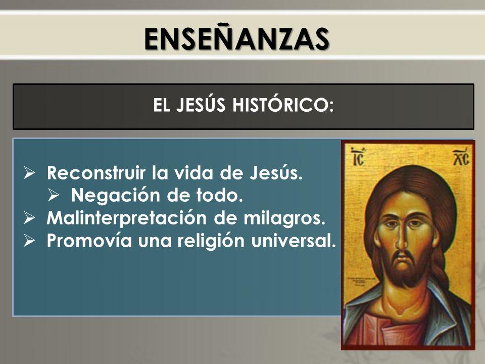 ENSEÑANZAS EL JESÚS HISTÓRICO: Reconstruir la vida de Jesús.