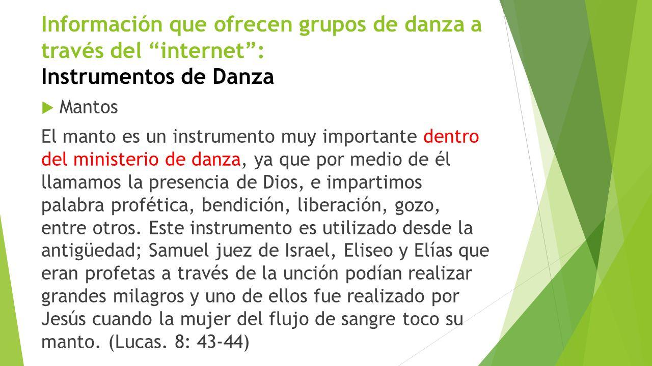 Tipos de danza cristiana Danza Profética Se lleva a cabo por un danzarín o cuerpo de danzarines que en un momento determinado pueden ministrar a la congregación con un mensaje profético.