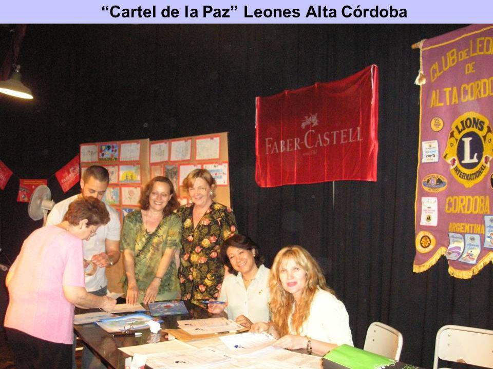 Cartel de la Paz Leones Alta Córdoba