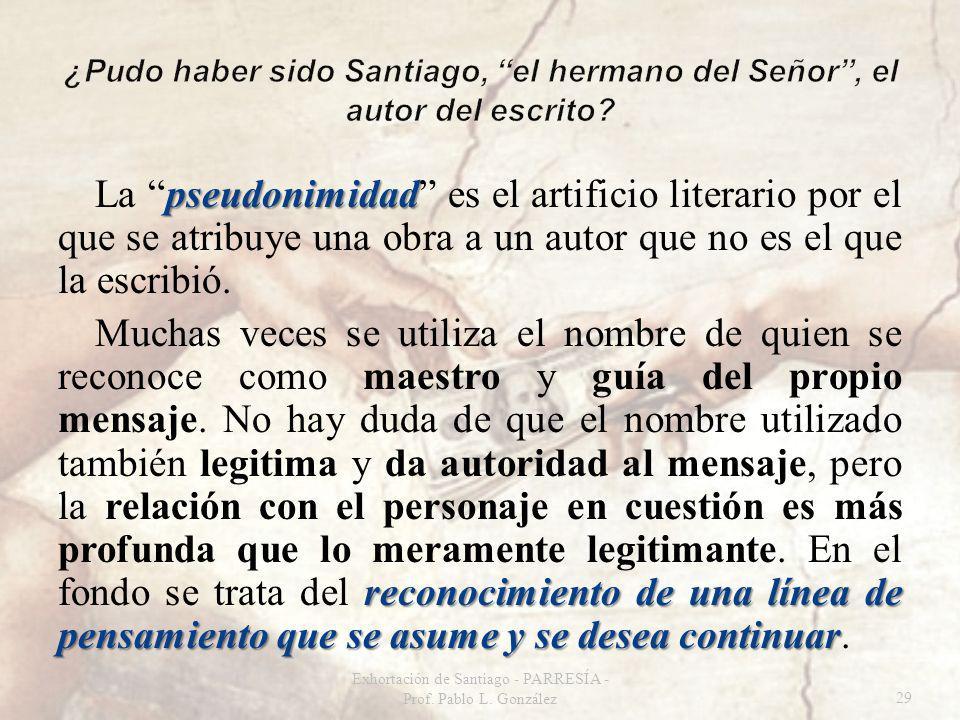 pseudonimidad La pseudonimidad es el artificio literario por el que se atribuye una obra a un autor que no es el que la escribió.