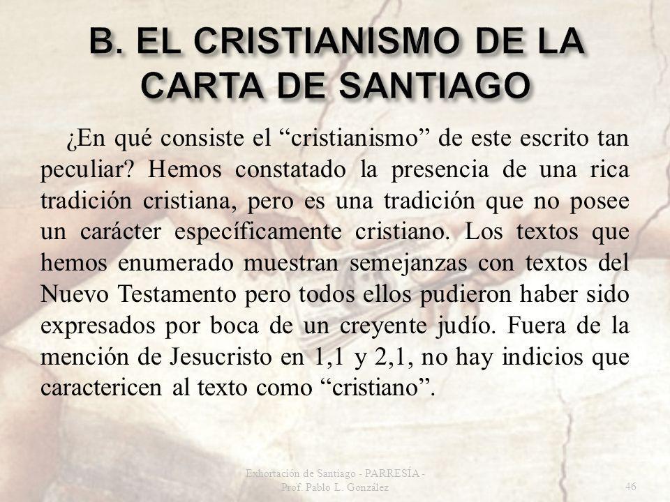 ¿En qué consiste el cristianismo de este escrito tan peculiar.