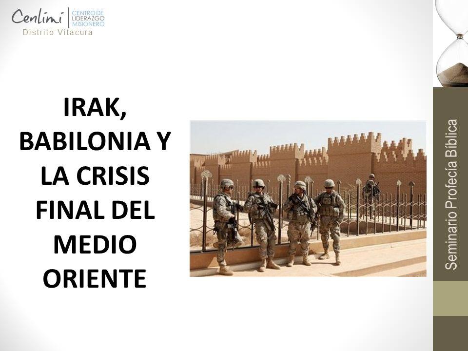 El segundo gran problema después del conflicto árabe-israelí en Medio Oriente: Irak ¿Tiene algún sentido el surgimiento de Irak a un nivel de prominencia mundial en los últimos días?