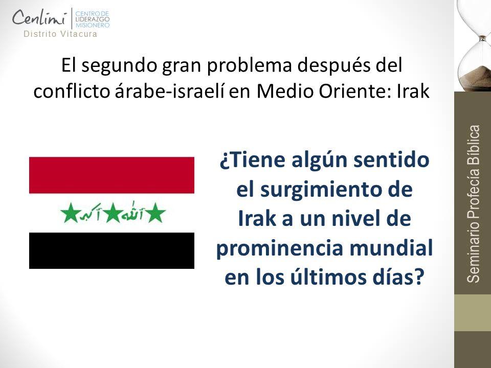 El segundo gran problema después del conflicto árabe-israelí en Medio Oriente: Irak ¿Tiene algún sentido el surgimiento de Irak a un nivel de prominen