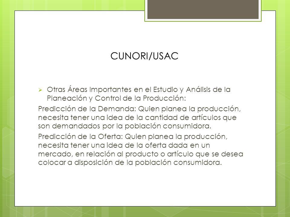 CUNORI/USAC Compendio de Planeación Estratégica de la Producción: Consiste en establecer los planes secuenciales de transformación productiva, para la