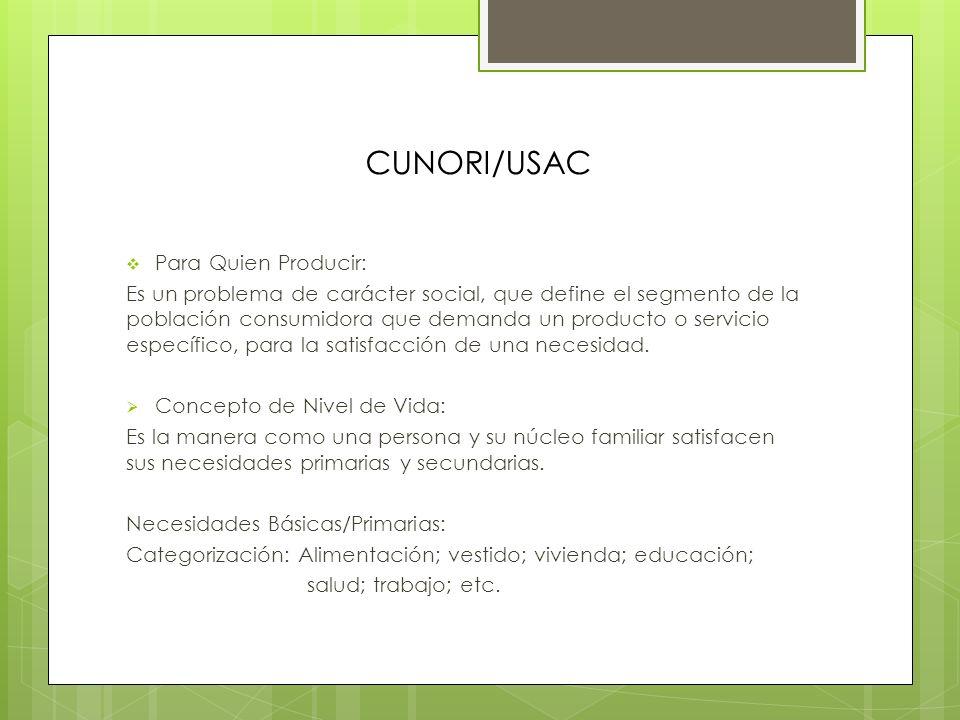 CUNORI/USAC Sistemas de Producción Intermitentes o por Órdenes: En esta clasificación se incluyen aquellas industrias en las que la producción se lleva a cuando existe in pedido especifico del cliente.
