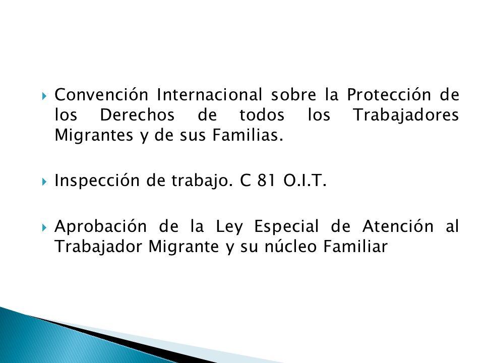 Convención Internacional sobre la Protección de los Derechos de todos los Trabajadores Migrantes y de sus Familias.