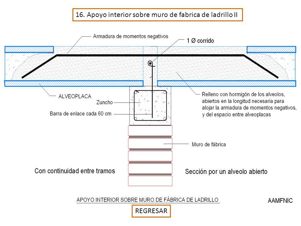 16. Apoyo interior sobre muro de fabrica de ladrillo II REGRESAR