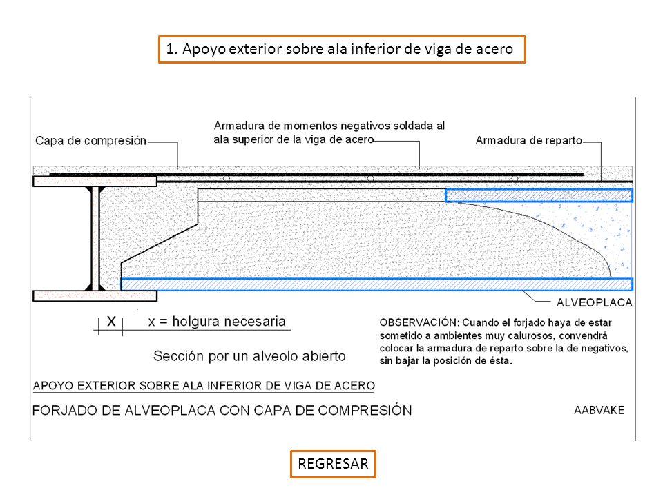 1. Apoyo exterior sobre ala inferior de viga de acero REGRESAR