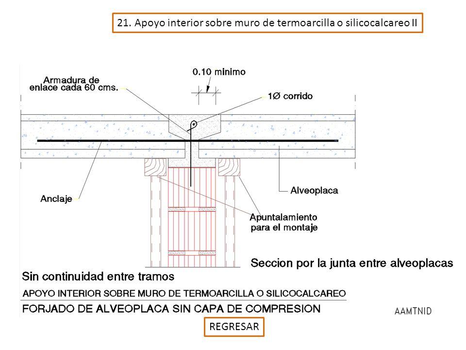 21. Apoyo interior sobre muro de termoarcilla o silicocalcareo II REGRESAR