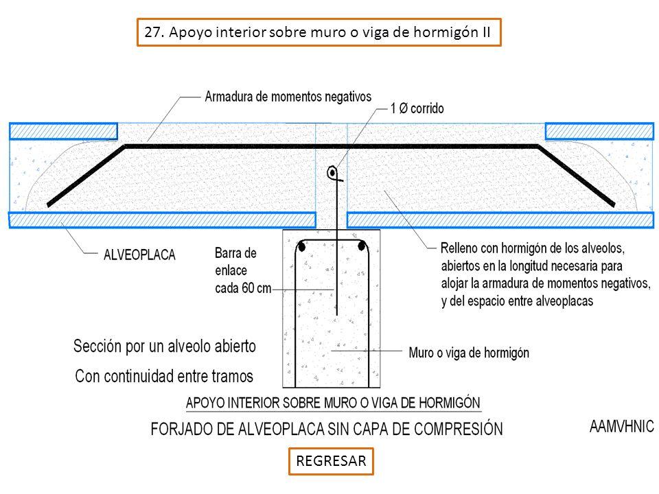27. Apoyo interior sobre muro o viga de hormigón II REGRESAR