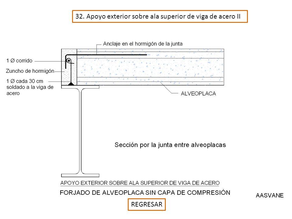 32. Apoyo exterior sobre ala superior de viga de acero II REGRESAR