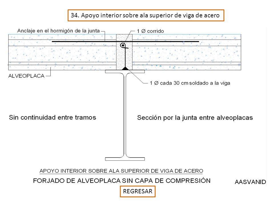 34. Apoyo interior sobre ala superior de viga de acero REGRESAR