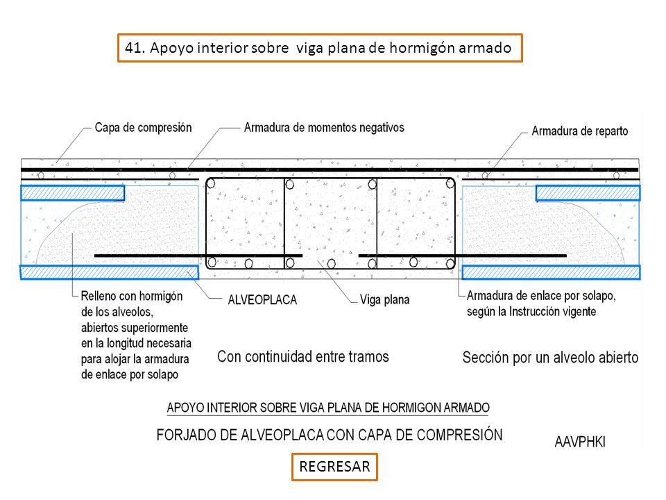 41. Apoyo interior sobre viga plana de hormigón armado REGRESAR