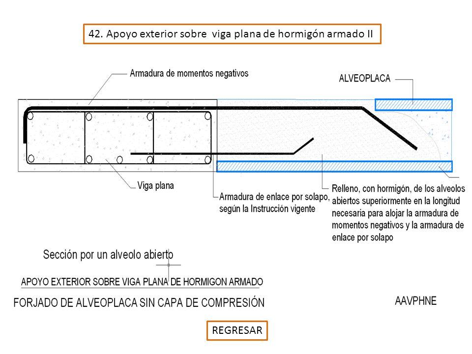 42. Apoyo exterior sobre viga plana de hormigón armado II REGRESAR
