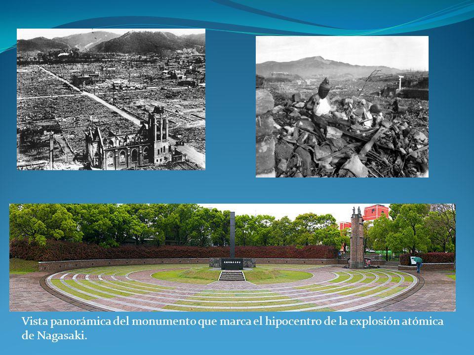 Vista panorámica del monumento que marca el hipocentro de la explosión atómica de Nagasaki.