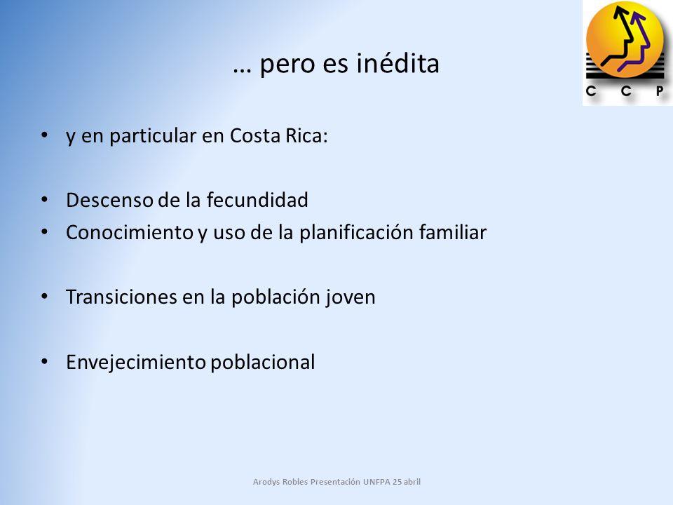 Trayectoria de la fecundidad en América Latina Costa Rica