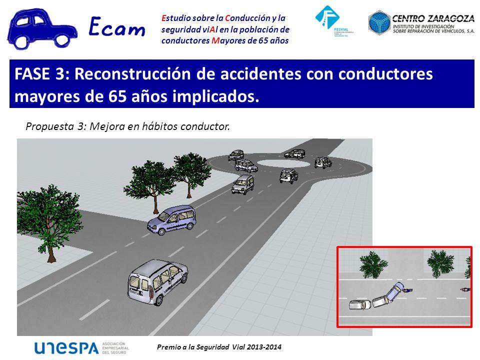 Estudio sobre la Conducción y la seguridad viAl en la población de conductores Mayores de 65 años Premio a la Seguridad Vial 2013-2014 Propuesta 3: Mejora en hábitos conductor.