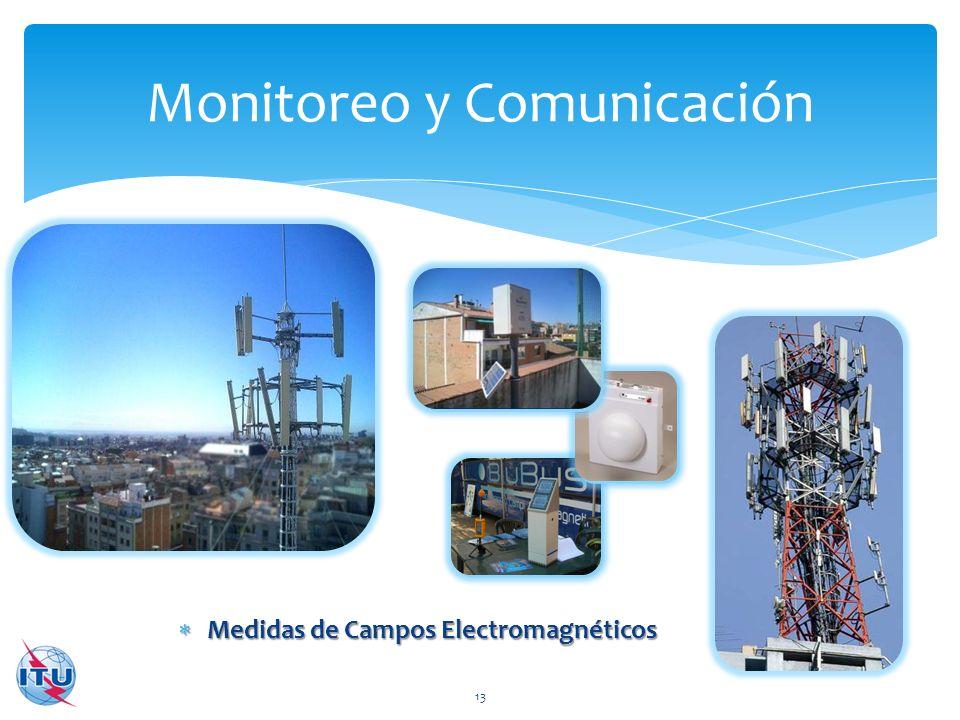 Medidas de Campos Electromagnéticos Medidas de Campos Electromagnéticos Monitoreo y Comunicación 13