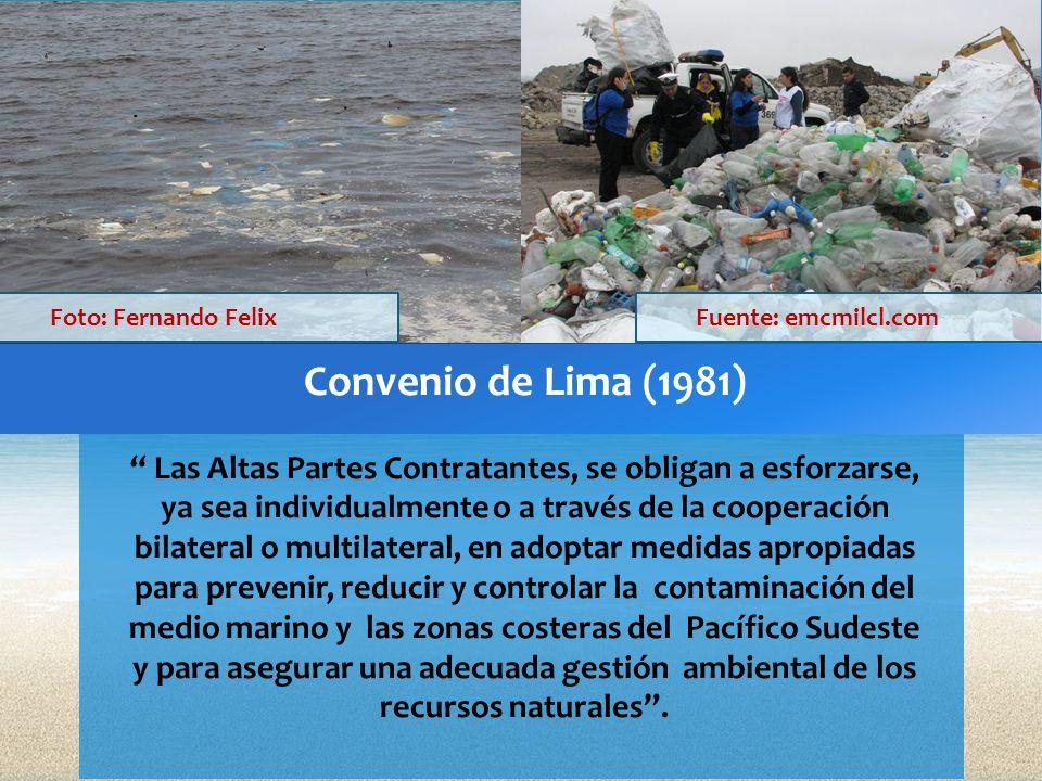 Convenio de Lima (1981) Las Altas Partes Contratantes, se obligan a esforzarse, ya sea individualmente o a través de la cooperación bilateral o multil